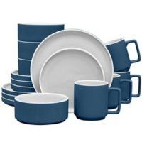 Noritake® ColorTrio Stax 16-Piece Dinnerware Set in Blue