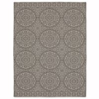 Mohawk Home Oasis Bundoran 8-Foot x 10-Foot Indoor/Outdoor Area Rug in Silver