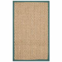 Safavieh Natural Fiber Johanna 2-Foot 6-Inch x 4-Foot Accent Rug in Natural/Light Blue