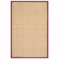 Safavieh Natural Fiber Johanna 4-Foot x 6-Foot Area Rug in Natural/Red
