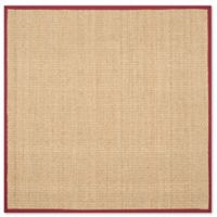 Safavieh Natural Fiber Johanna 6-Foot Square Area Rug in Natural/Red