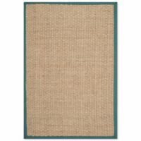 Safavieh Natural Fiber Johanna 6-Foot x 9-Foot Area Rug in Natural/Light Blue