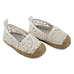 Rising Star™ Size 3-6M Girls Eyelet Espadrille in White