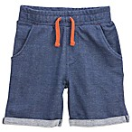 Sovereign Code™ Size 6-9M French Terry Short in Navy/Orange