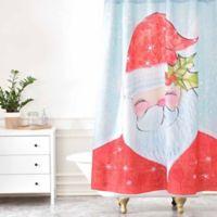Deny Designs Cori Dantini Sweet Santa Shower Curtain in Red