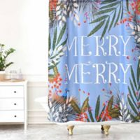 "Deny Designs Joy Laforme Christmas ""Merry Merry"" Wreath Shower Curtain"