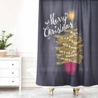 Deny Designs Joy Laforme Merry Christmas Little Tree Shower Curtain