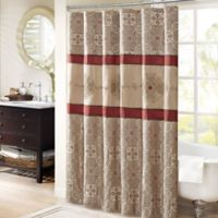 Madison Park Donovan 72-Inch Shower Curtain in Red