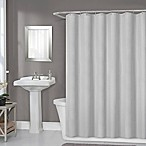 Titan 70-Inch x 72-Inch Waterproof Fabric Shower Curtain Liner in Light Grey