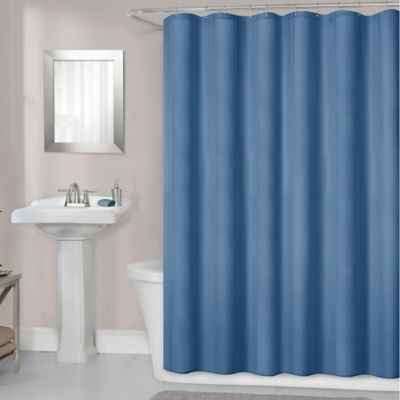 Titan 70 Inch X 72 Inch Waterproof Fabric Shower Curtain Liner In Navy
