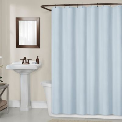 Titan 70 Inch X 72 Waterproof Fabric Shower Curtain Liner In Blue