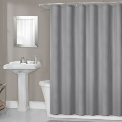 Titan 70 Inch X 72 Waterproof Fabric Shower Curtain Liner In Grey