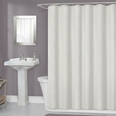Titan 70 Inch X 72 Waterproof Fabric Shower Curtain Liner In Ivory