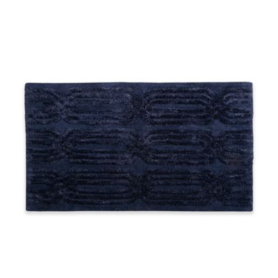 Madison Park Colette 20 Inch X 30 Inch Bath Rug In Navy