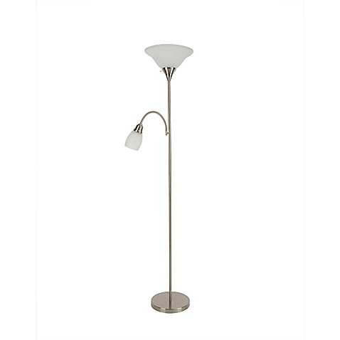 Alton torchiere floor lamp with reader collection bed for Alton bronze floor lamp with reader parts