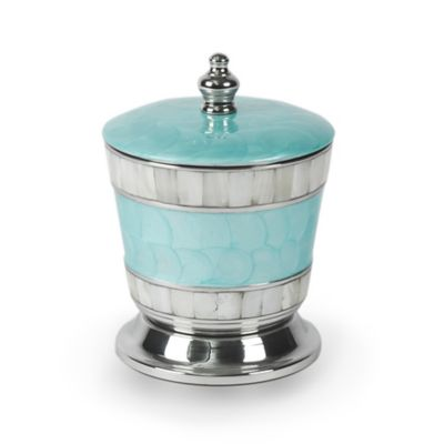 Julia Knight Classic Bath Canister With Lid In Aqua