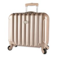 Kensie Metallic 17-Inch Rolling Briefcase in Pale Gold