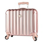 Kensie Metallic 17-Inch Rolling Briefcase in Rose Gold