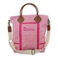 CB Station Colored Flight Travel Bag in Pink Stripes