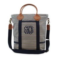 CB Station Colored Flight Travel Bag in Navy Stripe