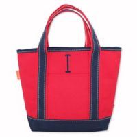 CB Station Handy Colored Open Top Tote in Red/Navy