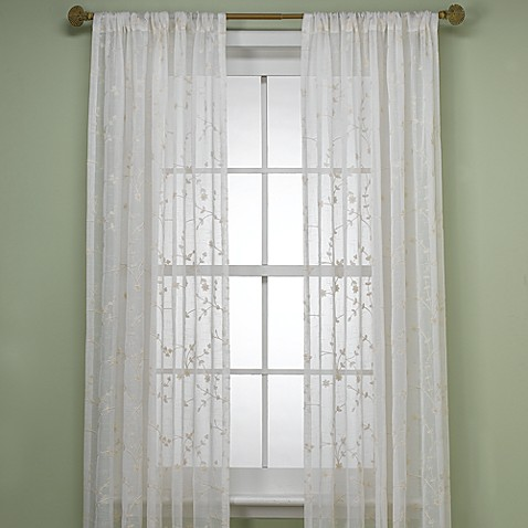 B Smith Bermuda Window Curtain Panel In Ivory Bed Bath Beyond