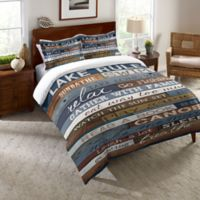 Laural Home® Lake Rules Twin Comforter in Blue