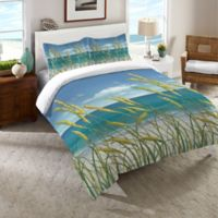 Laural Home® Summer Breeze Twin Comforter in Blue