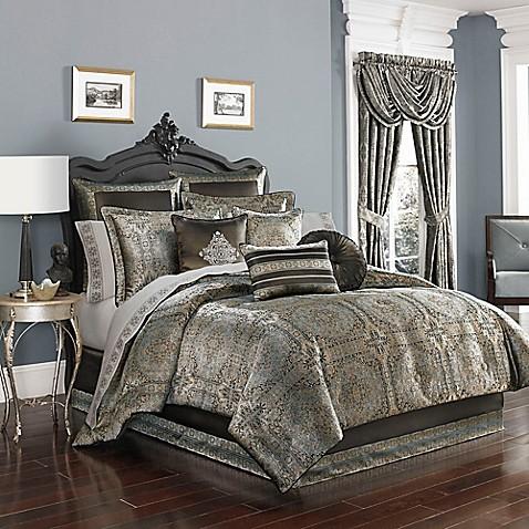 J By J Queen New York Bridgeport Comforter Set In Spa