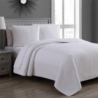 Estate Fenwick Twin Quilt Set in Bright White