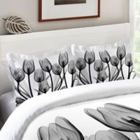 Laural Home® Tulips Standard Pillow Sham in Black/White