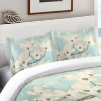 Laural Home® Dogwood Blossoms Standard Pillow Sham in Blue