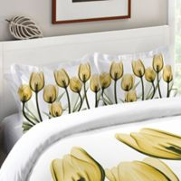 Laural Home® Golden Tulips Standard Pillow Sham in Yellow/White
