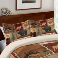 Laural Home® Lodge Collage Standard Pillow Sham in Brown