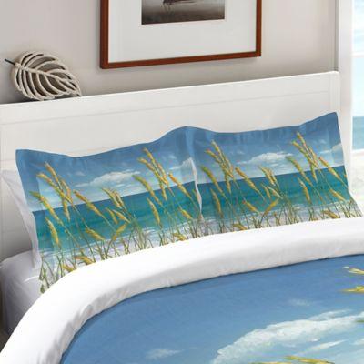 laural home summer breeze standard pillow sham in blue