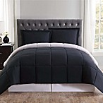 Truly Soft Everyday Reversible King Comforter Set in Black/Grey