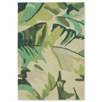 Liorra Manne Capri Palm Leaf 2-Foot x 3-Foot Indoor/Outdoor Accent Rug in Green