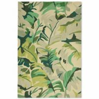 Liorra Manne Capri Palm Leaf 5-Foot x 7-Foot 6-Inch Indoor/Outdoor Area Rug in Green