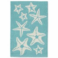 Liorra Manne Capri Starfish 2-Foot x 3-Foot Indoor/Outdoor Accent Rug in Aqua