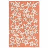 Liorra Manne Capri Starfish 5-Foot x 7-Foot 6-Inch Indoor/Outdoor Area Rug in Coral