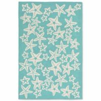 Liorra Manne Capri Starfish 5-Foot x 7-Foot 6-Inch Indoor/Outdoor Area Rug in Aqua