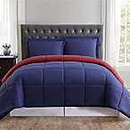 Truly Soft Everyday Reversible King Comforter Set in Burgundy/Navy
