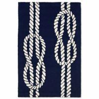 Liora Manne Capri Ropes 2-Foot x 3-Foot Indoor/Outdoor Accent Rug in Navy