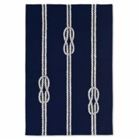 Liora Manne Capri Ropes 3-Foot 6-Inch x 5-Foot 6-Inch Indoor/Outdoor Area Rug in Navy