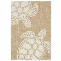 Liora Manne Capri Turtle 2-Foot x 3-Foot Indoor/Outdoor Accent Rug in Neutral