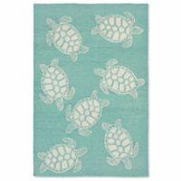 Liora Manne Capri Turtle 7-Foot 6-Inch x 9-Foot 6-Inch Indoor/Outdoor Area Rug in Aqua