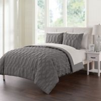 VCNY Home Atoll Embossed 7-Piece Queen Comforter Set in Grey