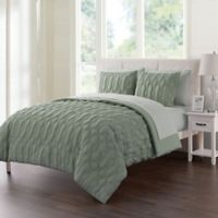 VCNY Home Atoll Embossed 7-Piece Full Comforter Set in Sage