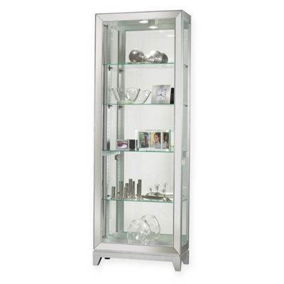 Howard Miller® Shayne Curio Cabinet in Silver  sc 1 st  Bed Bath u0026 Beyond & Buy Silver Curio Cabinets from Bed Bath u0026 Beyond
