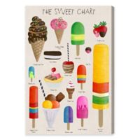 Olivia's Easel Sweet Chart 20-Inch x 30-Inch Canvas Wall Art